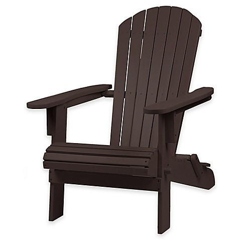 Westerly Acacia Wood Adirondack Folding Chair Bed Bath