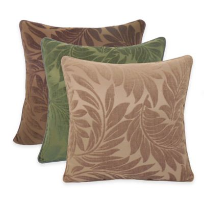 Arlee Home Fashions Alessandra Chenille Jacquard Leaves Throw Pillow (Set of 2) - Bed Bath & Beyond