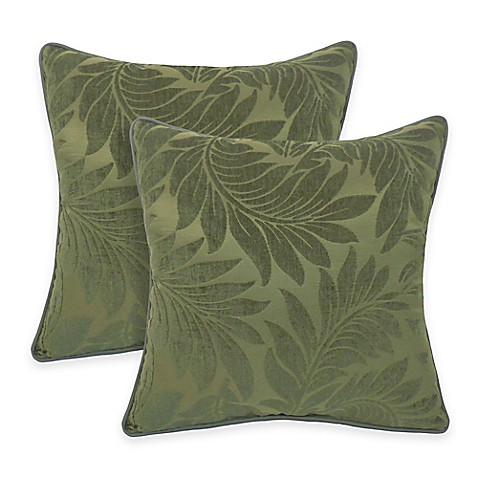 Arlee Home Fashions Alessandra Chenille Jacquard Leaves Throw Pillow Set Of 2 Bed Bath Beyond