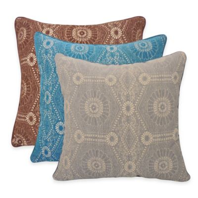 Chenille Throw Pillows Set Of 2 Clearance : Arlee Home Fashions Heston Chenille Medallion Square Throw Pillow (Set of 2) - Bed Bath & Beyond