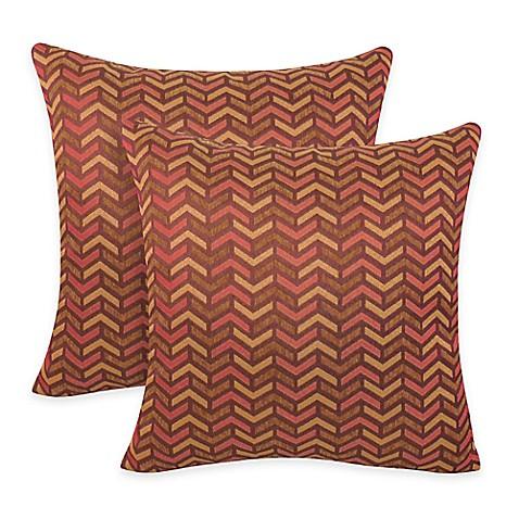 Arlee Home Fashions Mona Woven Geometric Square Throw Pillow Set Of 2 Bed Bath Beyond