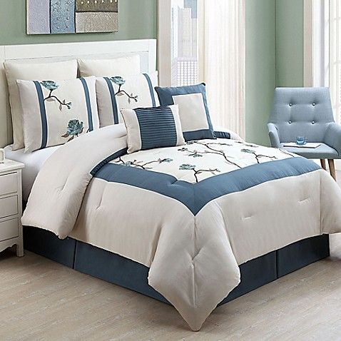 Vcny trousdale 8 piece comforter set bed bath beyond - Bed bath and beyond bedroom furniture ...