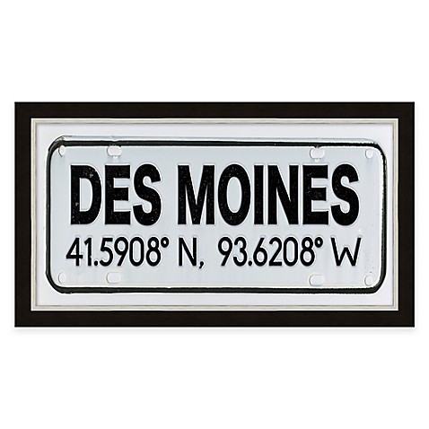 Framed gicl e des moines coordinates print wall art bed for Craft stores des moines