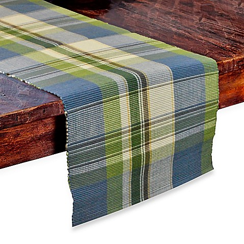 Buy lake house plaid 72 inch table runner from bed bath for Table runners 52 inches
