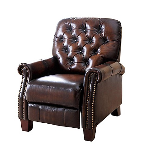 Buy abbyson living camden leather pushback recliner from for Abbyson living sedona leather chaise recliner
