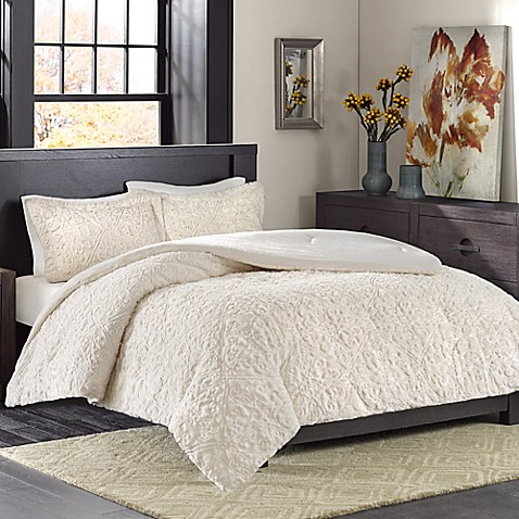 Madison park bismarck ultra plush comforter set bed bath - Bed bath and beyond bedroom furniture ...