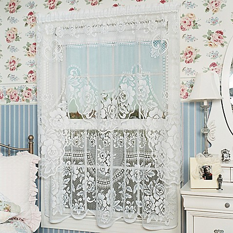 Heritage Lace Victorian Rose 30 Inch Window Curtain Tier