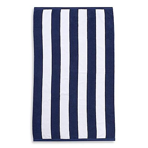 Wamsutta 174 Heavyweight Resort Stripe Beach Towel Bed Bath