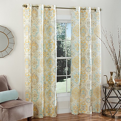 M Style Ali Baba 84 Inch Grommet Top Window Curtain Panel