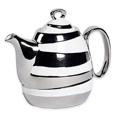 Studio TU® by Tabletops Unlimited® Sterling 37 oz. Teapot in Silver at Bed Bath & Beyond in Cypress, TX | Tuggl