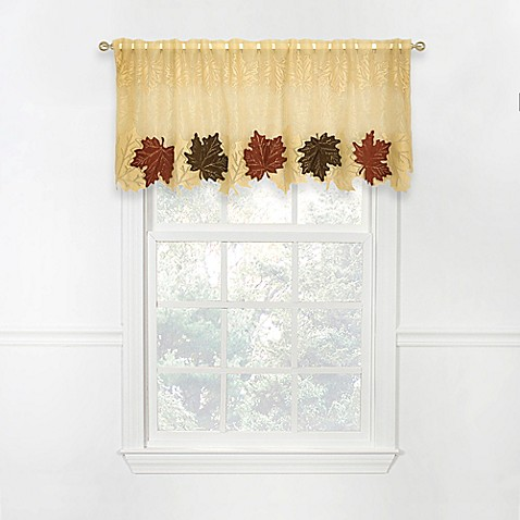 Heritage Lace Maple Leaf 4 Way Valance Bed Bath Beyond
