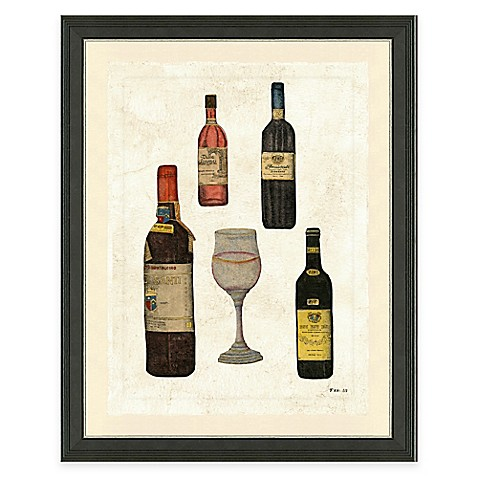 Buy framed gicl e wine bottles i print wall art from bed for Wall decor wine bottles