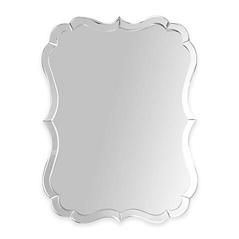 Abbyson Living 174 Olivia Rectangular Scalloped Wall Mirror