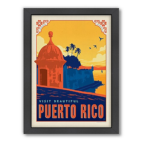 World Travel Puerto Rico Framed Wall Art by Anderson Design Group ...