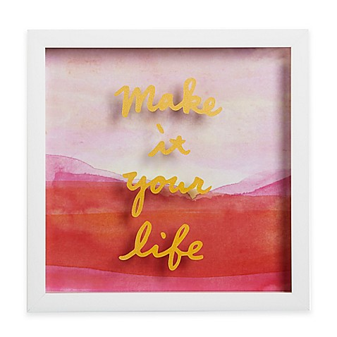 Umbra 174 Motto Shadow Box Quot Make It Your Life Quot Framed Art