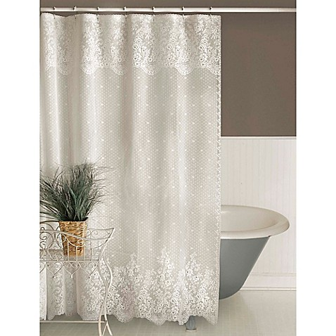 Buy Heritage Lace Floret Shower Curtain White From Bed