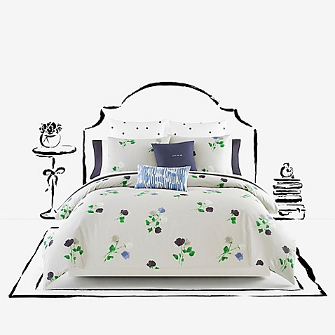 Kate spade new york willow court comforter set in platinum for Bed bath and beyond kate spade