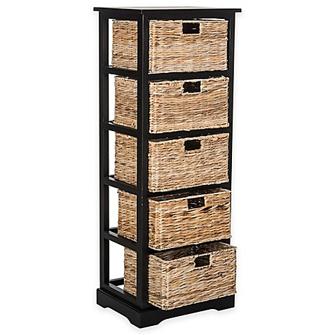 Safavieh Vedette 5-Wicker-Basket Storage Chests at Bed Bath & Beyond in Cypress, TX | Tuggl