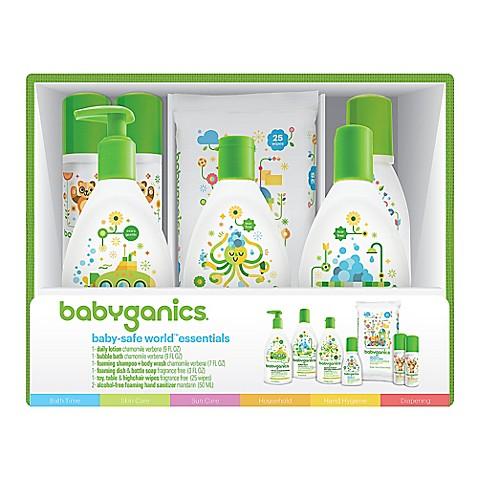 Babyganics 174 Baby Safe World Essentials Gift Set Bed