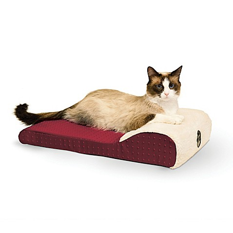 Buy ultra memory chaise lounger for pets in red from bed for Cat window chaise