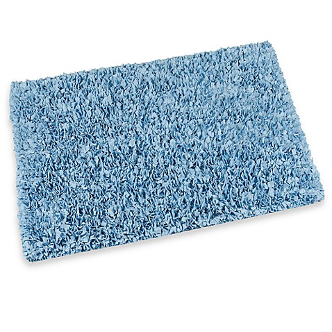 Light Blue Raggy Shaggy Accent Rug  24Inch x 48Inch from Bed Bath