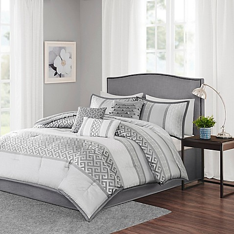 Madison Park Bennett 7 Piece Comforter Set Bed Bath Amp Beyond