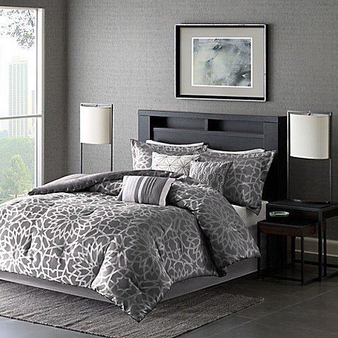 Madison park carlow duvet cover set bed bath beyond - Bed bath and beyond bedroom furniture ...