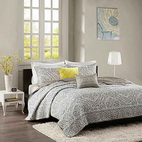 Intelligent Design Nitza Coverlet Set In Grey by Bed Bath And Beyond