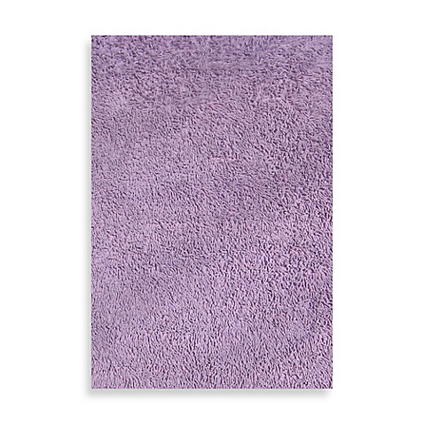 Fun Rugs Chenille Cotton Shag Area Rug In Lavender Bed