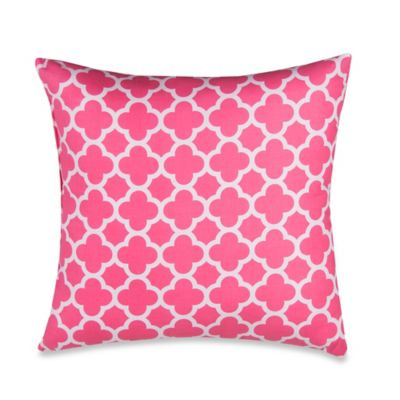 Glenna Jean Pippin Crib Bedding Collection > Glenna Jean Pippin Quatrefoil Throw Pillow in Pink ...
