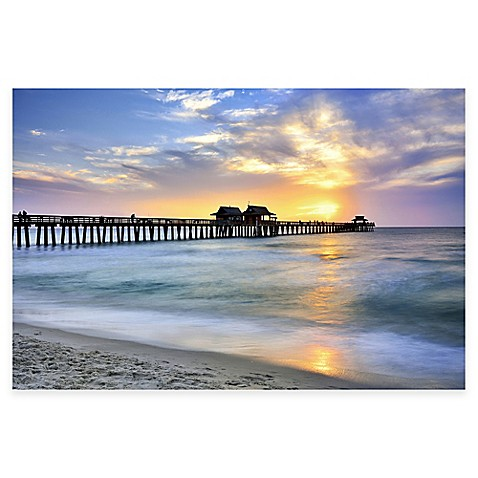 Pier On The Beach Of Naples Photographic Canvas Wall Art Bed Bath Amp Beyond