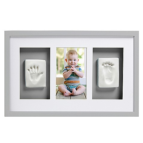 Pearhead® Babyprints 4-Inch x 6-Inch Deluxe Wall Frame in Grey at Bed Bath & Beyond in Cypress, TX | Tuggl