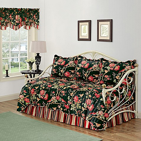 Waverly Charleston Chirp Noir Reversible Daybed Bedding Set Bed