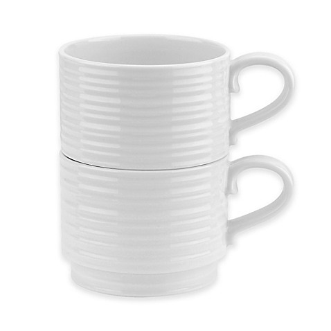 Sophie Conran for Portmeirion® Stacking Mugs in White (Set of 2) at Bed Bath & Beyond in Cypress, TX | Tuggl