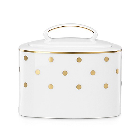 Buy kate spade new york larabee road gold covered sugar for Bed bath and beyond kate spade