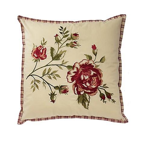 Waverly 174 Norfolk Reversible Cabbage Rose Throw Pillow