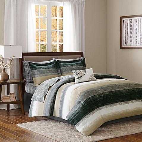 Madison Park Essentials Saben Comforter Set In Taupe Black