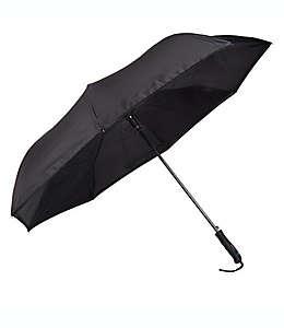 Paraguas automático BetterBrella™ con tecnología inversa para abrir y cerrar en negro
