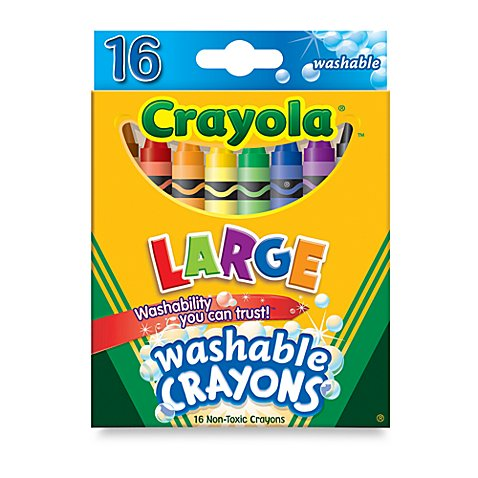 crayola large 16 count washable crayons buybuy baby. Black Bedroom Furniture Sets. Home Design Ideas