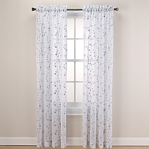 Caspia Rod Pocket Sheer Window Curtain Panel Bed Bath Beyond