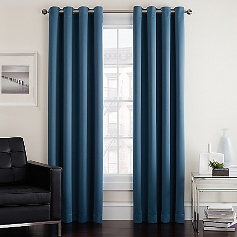 Twilight Room Darkening Grommet Window Curtain Panel | Tuggl