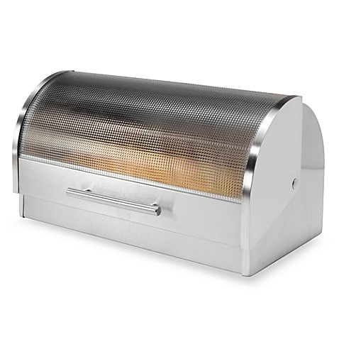 Oggi Stainless Steel Glass Roll Top Bread Box Bed Bath
