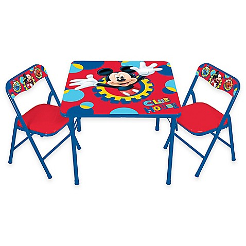 Mickey Mouse 3 Piece Activity Table And Chairs Set Bed