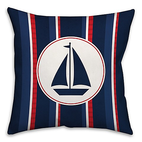Madison Square 18-Inch Decorative Pillows : Buy Nautical Sail Boat 18-Inch Square Throw Pillow from Bed Bath & Beyond