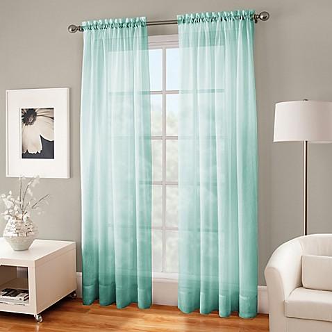 crushed voile sheer rod pocket window curtain panel bed. Black Bedroom Furniture Sets. Home Design Ideas
