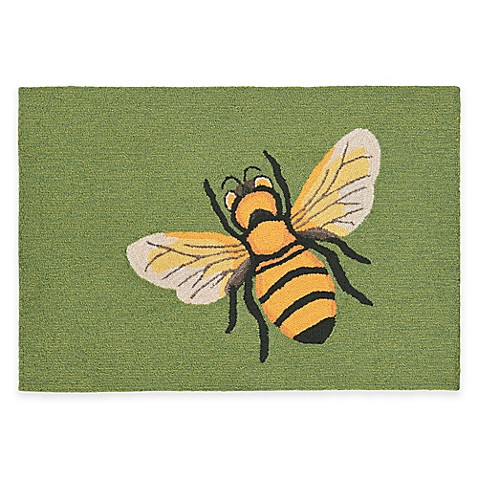Buy Trans Ocean Front Porch Bee Green 2 Foot 6 Inch X 4