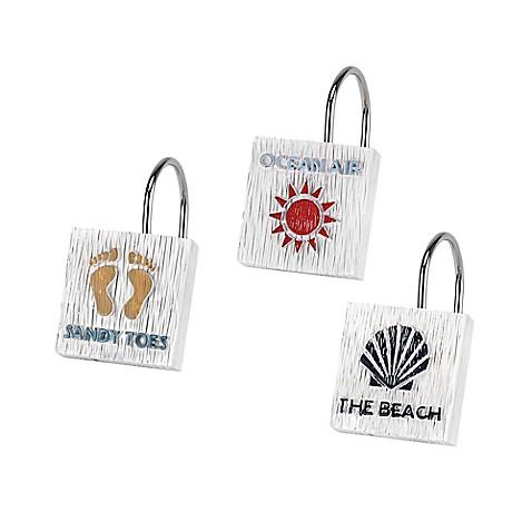 Avanti Beach Words Shower Curtain Hooks Bed Bath Beyond