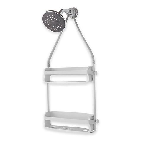 flex shower caddy in grey bed bath beyond