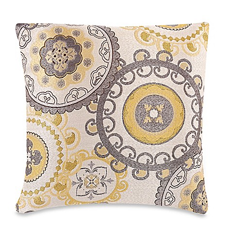 Throw Pillow Covers Bed Bath Beyond : Make-Your-Own-Pillow Equinox Throw Pillow Cover in Yellow/Grey - Bed Bath & Beyond