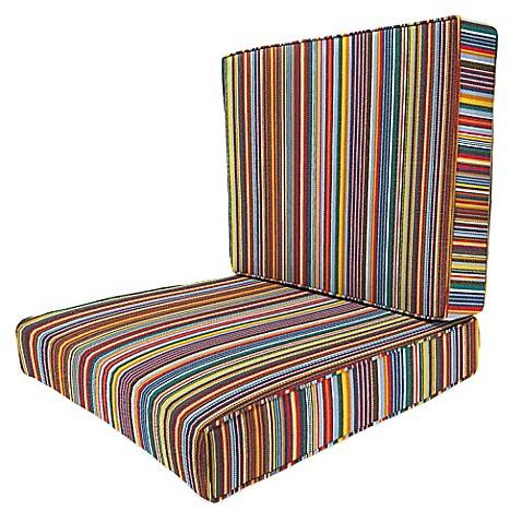 24 Inch X 24 Inch 2 Piece Deep Seat Chair Cushion In